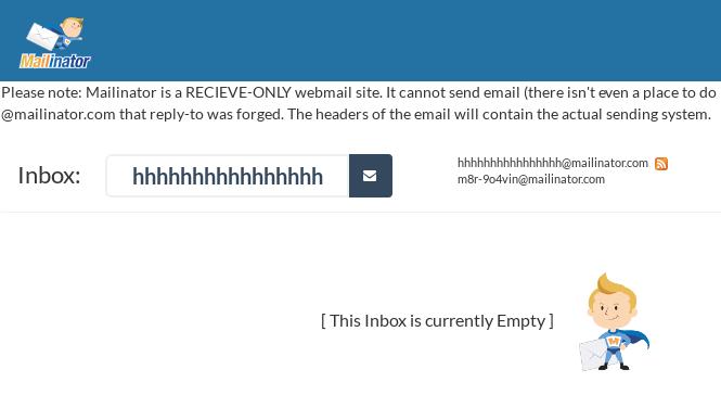 Malicious Mailinator Inbox